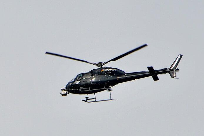 Huis bezichtigen vanuit helikopter